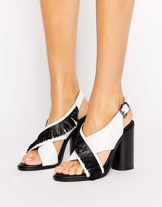 Sol Sana Casey Heel Cross Strap Leather Heeled Sandals