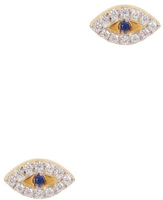 Missoma Evil Eye 18ct Gold Vermeil Stud Earrings