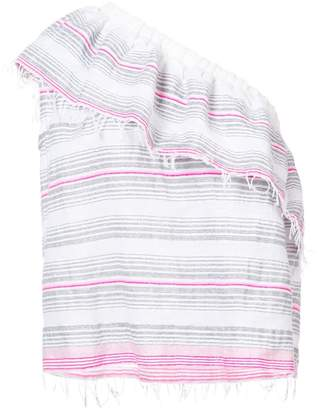 Lemlem striped one shoulder top
