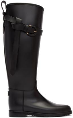 Burberry Black Roscot Riding Rain Boots $375 thestylecure.com