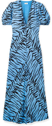 Rixo Tonya Printed Crepe Midi Dress - Blue