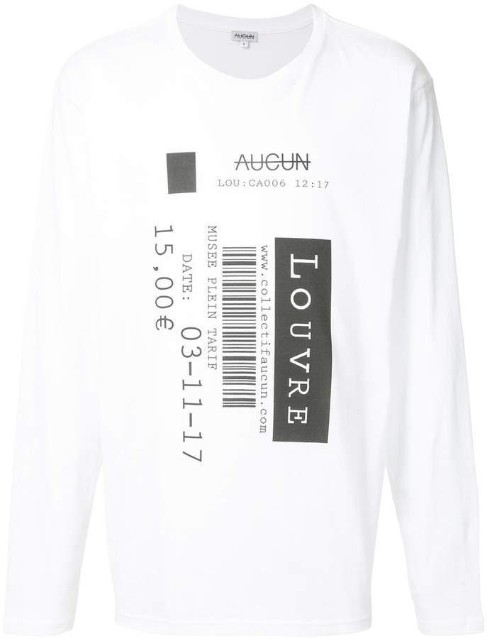 Collectif Aucun Sweatshirt mit Print