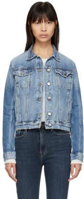Frame Blue Denim Slender Heritage Jacket