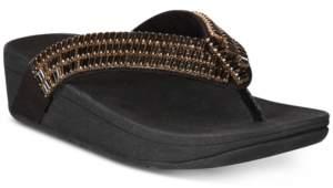 FitFlop Surfa Crystal Platform Flip-Flop Sandals Women's Shoes