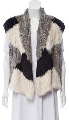 Vince Knitted Fur Vest