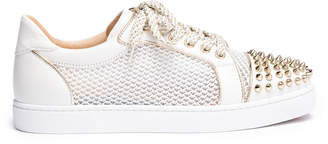 Christian Louboutin Vieira light gold leather spike sneakers