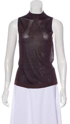 Rag & Bone Metallic Knit Sleeveless Top