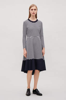 Cos PANELLED LONG-SLEEVE JERSEY DRESS
