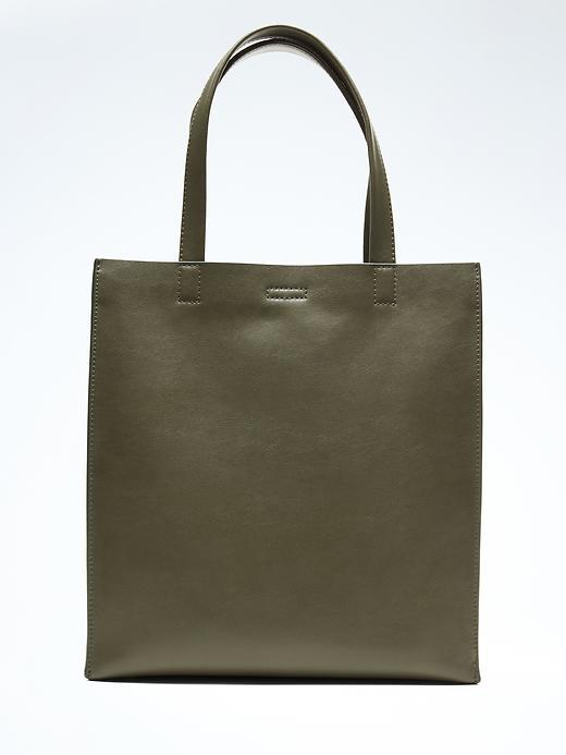 Portfolio Structured Leather Tall Tote