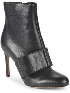 Valentino Bow Leather Ankle Booties