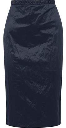 Max Mara Elio Crinkled-sateen Pencil Skirt