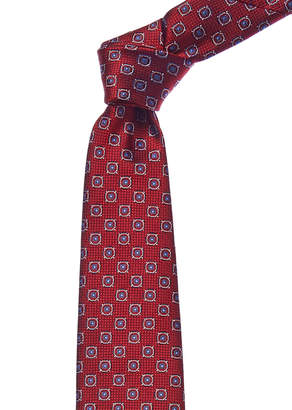 Canali Red & Blue Squares Silk Tie