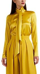 Martin Grant Women's Tieneck Silk Blouse - Yellow