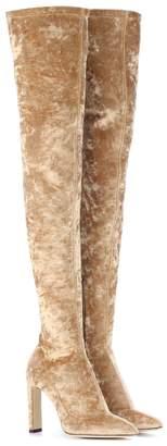 Jimmy Choo Lorraine 100 velvet over-the-knee boots