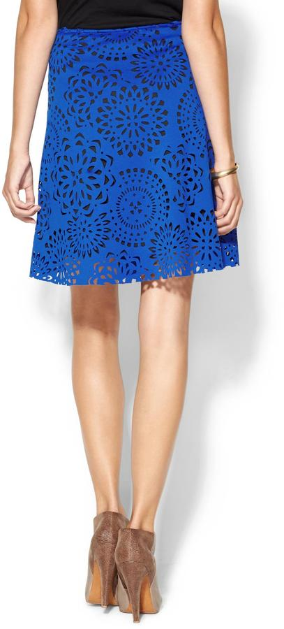 Juicy Couture Tinley Road Lazer Cut Scuba Skirt