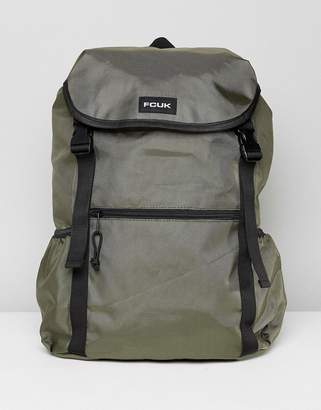 French Connection Nylon Backpack In Khaki
