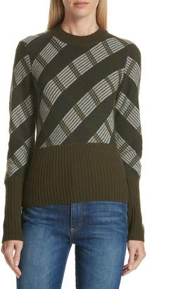 Lewit Plaid Grid Cashmere Sweater