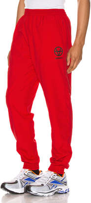 Vetements Anarchy Tracksuit Pants in Red   FWRD