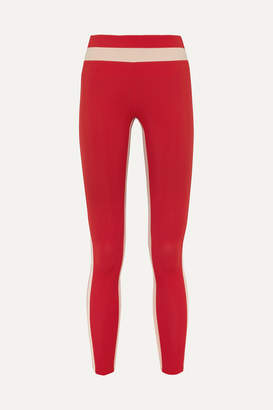 Freya Vaara Tuxedo Stretch Leggings - Red