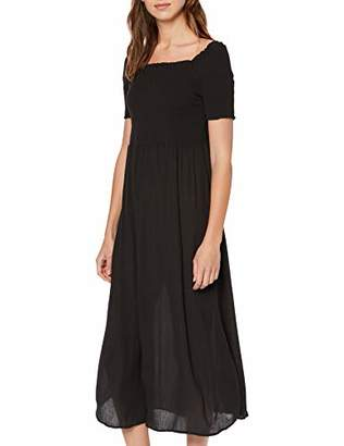 Tom Tailor Casual Women's Gesmocktes Kleid Dress, (Deep Black 482), (Size: 40)
