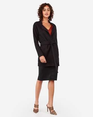 Express Belted Tailored Tweed Knit Blazer