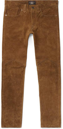 RRL Alaskan Slim-Fit Suede Trousers