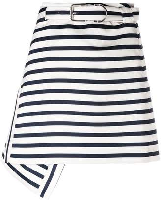 Carven striped A-line skirt