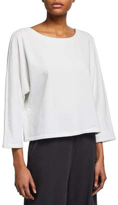 Eileen Fisher Petite 3/4-Sleeve Terry Shirt