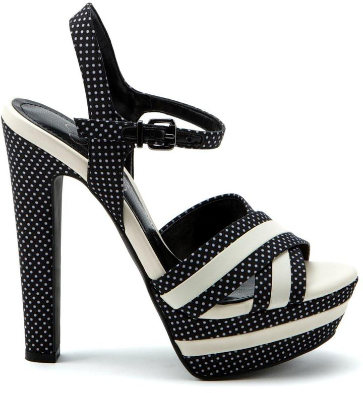 Jessica Simpson Patia Black Ivory Dots Sandals