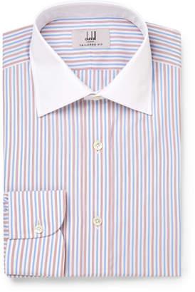 Dunhill Slim-Fit Striped Cotton Shirt - Men - Blue