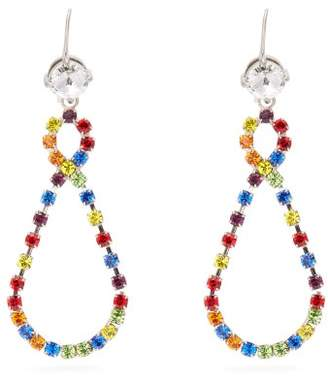 Miu Miu Infinity Rainbow Crystal Pear Drop Earrings - Womens - Multi
