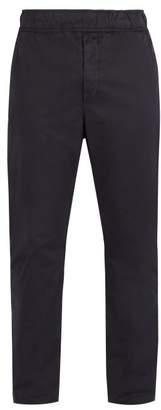 Bottega Veneta Straight Leg Cotton Trousers - Mens - Dark Navy