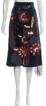 ef48ac03a Suede Patchwork Skirt - ShopStyle
