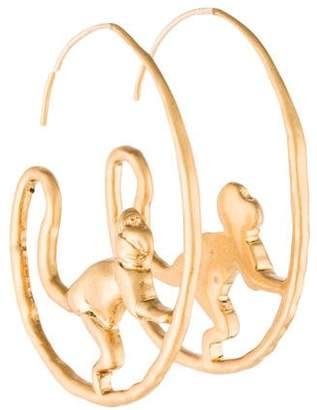 Tory Burch Monkey Hoop Earrings
