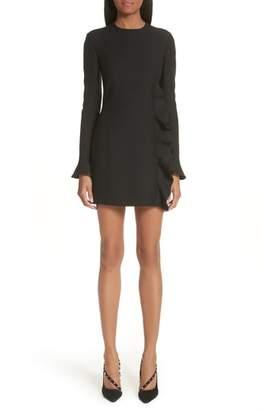 Valentino Ruffle Crepe Dress