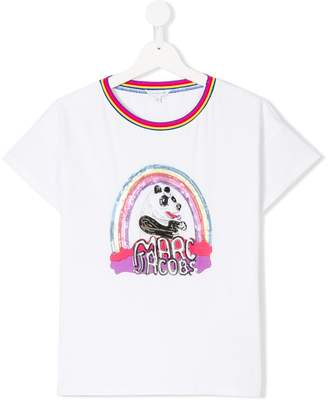 Little Marc Jacobs sequinned panda T-shirt