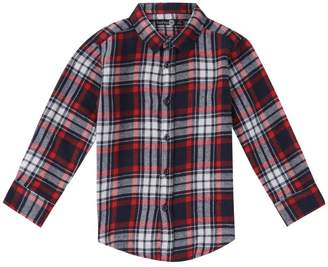 boohoo Boys Brushed Check Long Sleeve Shirt