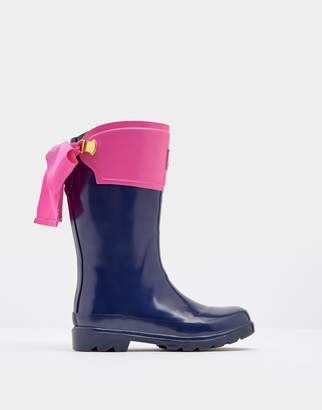 Joules Clothing French Navy Bow Wellies
