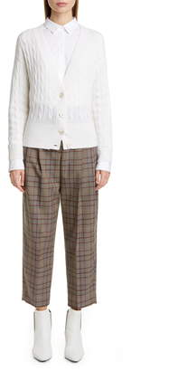 Brunello Cucinelli Prince of Wales Check Crop Trousers