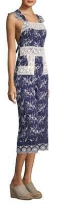 Nightcap Clothing Olive Lace Apron Jumpsuit