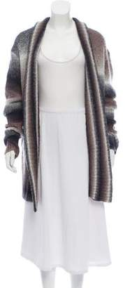 Magaschoni Open Front Knit Cardigan
