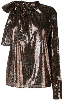 MSGM leopard sequinned blouse