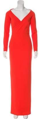 SOLACE London Long-Sleeve Maxi Dress