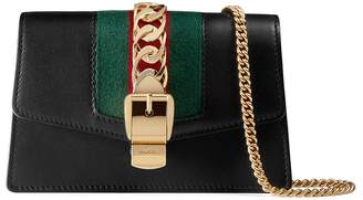 Gucci Sylvie leather super mini bag