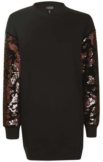 TopshopTopshop Sequin sleeve sweatshirt