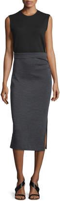 Joseph Ellis Sleeveless Jersey Dress, Black/Gray