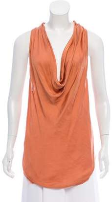 Helmut Lang Cowl Neck Sleeveless Top