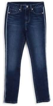 Habitual Girl Girl's Velvet Trimmed Skinny Jeans