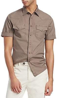 Brunello Cucinelli Men's Leisure-Fit Short-Sleeve Shirt