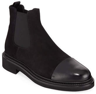 65aa4331943 Giorgio Armani Men s Vachetta Leather Suede Chelsea Boots
